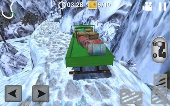 بازی کامیون حمل بار اندروید - Jurassic Hill Climber Truck