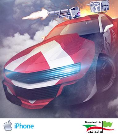 دانلود بازی مسابقات ماشین جنگی MadOut Ice Storm برای آیفون و آیپد و آیپاد