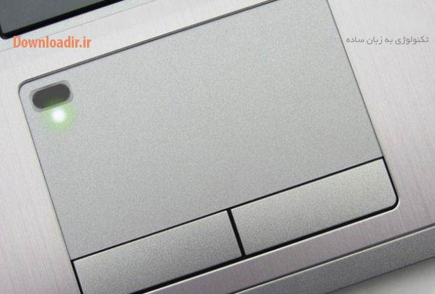 ادغام سنسور اثر انگشت لپ تاپ با تاچ پد