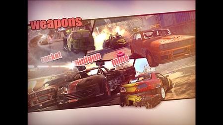 دانلود بازی مسابقهای ماشین جنگی MadOut Ice Storm برای آیفون و آیپد و آیپاد