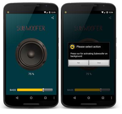 برنامه تقویت صدای گوشی اندروید - Subwoofer Bass
