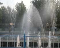 آبنمای موزیکال پارک گلستان شهرستان داورزن