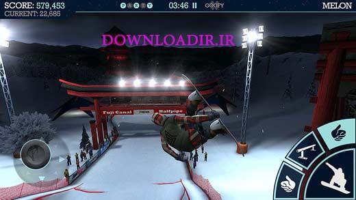 دانلود بازی اسنوبرد برای آیفون و آیپد Snowboard party