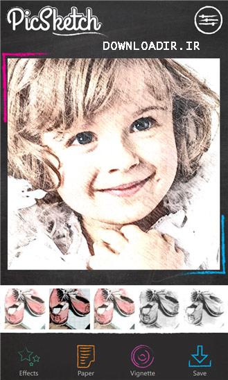 دانلود برنامه نقاشی عکس PicSketch 2.2.0.0 برای ویندوز فون